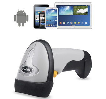 Bluetooth USB Barcode Scanner With Android Logo