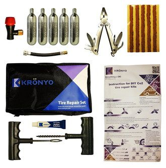 Car Tyre Puncture Repair Kit With Steel Canisters