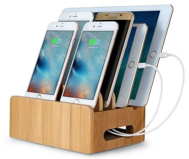 Multi Charging Station Organizer In Wood