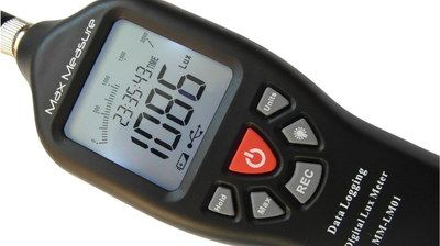 LCD Photography Light Meter In Black