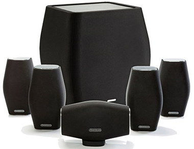 Small Monitor 5.1 Home Speaker System In Dark Colour