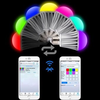 Bright Bluetooth Light Bulb With White Smartphone