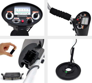 3 Modes Beach Metal Detector With View Meter