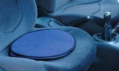 Disabled Car Seat Swivel Cushion In Deep Blue