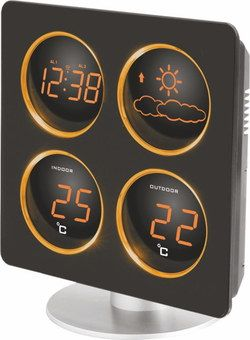 LED Smart Weather Station In Brown Finish