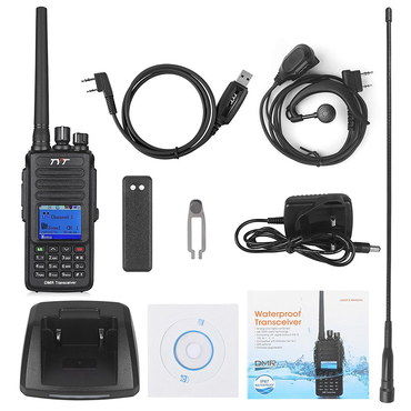 GPS LCD Walkie Talkie Digital Radio With USB Lead