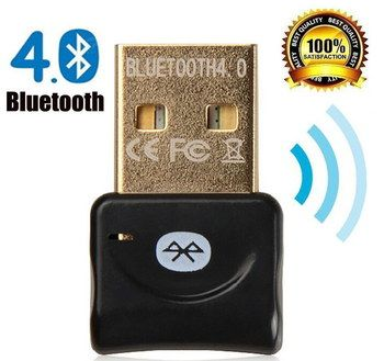 BLE USB Bluetooth Dongle For PC In Black