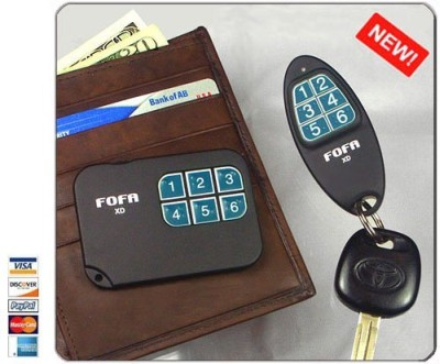 2 Way RF Wireless Key Finder With Brown Wallet