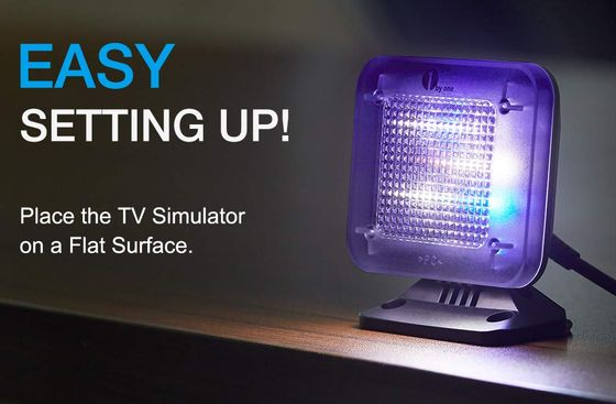TV Light Simulator With Blue Illumination