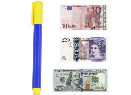 Fake Note Pen In Yellow And Blue