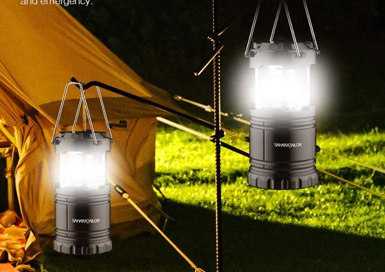 Battery Powered Lantern On Tent