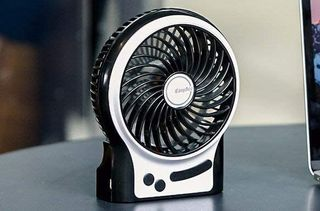 Black White Mini USB Fan