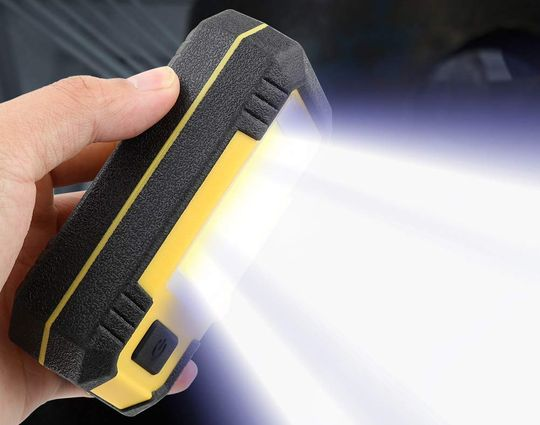 LED Portable Work Light In Yellow And Black