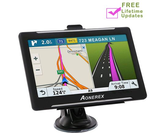 Car Navigation System With Motorway Map