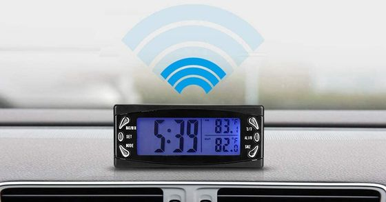 LCD Car Thermometer Blue Screen