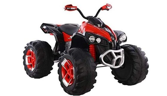 Electric Quad Bike With Red Exterior