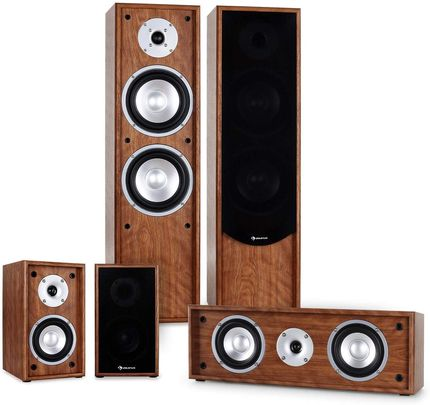 Home Audio System With Wooden Finish