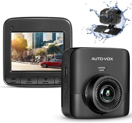 Dual Dash Cam With Small White Logo