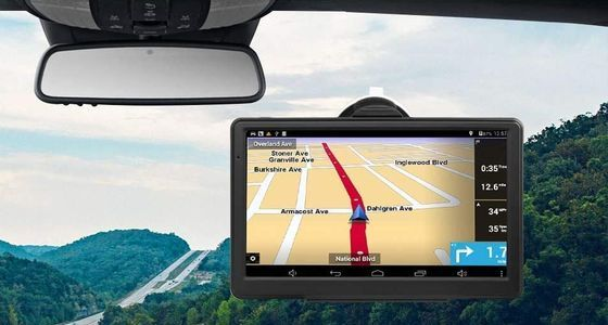 Car Sat-Nav With Windshield Fixing