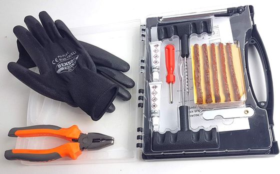 Emergency Tyre Repair Kit With Steel Tools