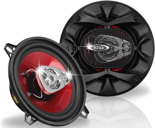 Car Bass Speakers In Red And Black