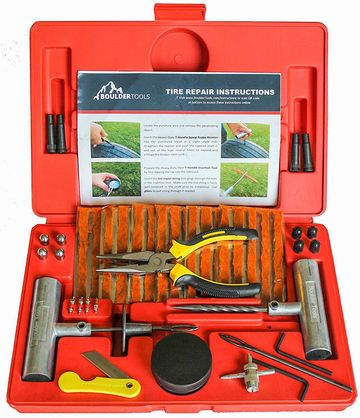 Car Tyre Repair Kit With Yellow Pliers