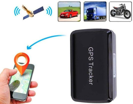 Mini GPS Tracking Device With White Smartphone