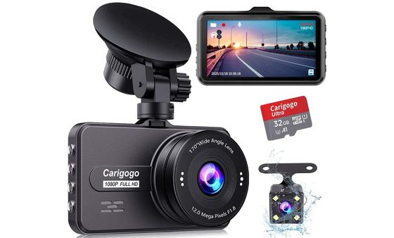 Car Camera Recorder With Red SD Card