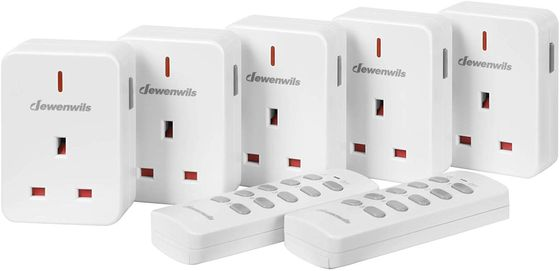 Remote Mains Socket Plugs In White