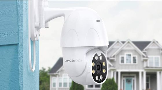 PTZ Outdoor Dome Camera With White Cable