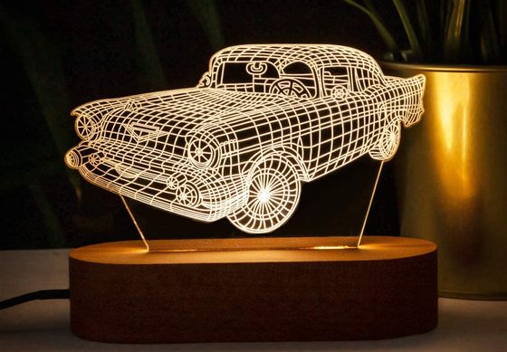Car Shaped 3D Night Light