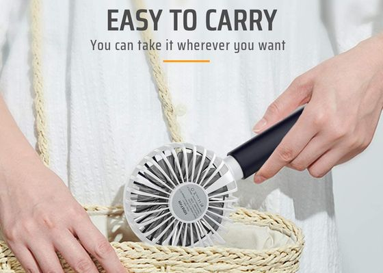Hand Held Battery Operated Fan In Light Blue With Box