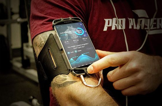 Sports Armband Phone Holder In Red