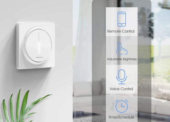 White Smart Alexa Dimmer Light Switch