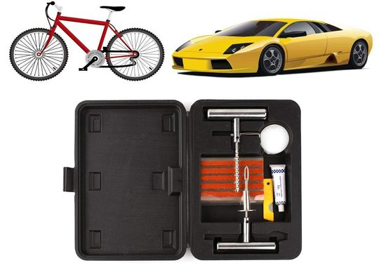 Puncture Repair Kit In Black Plastic Box