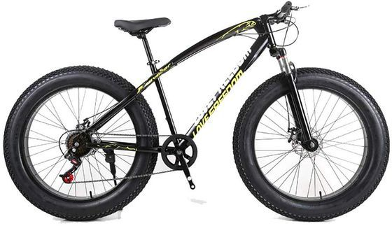 Fat Tyre Bike In Black And Yellow