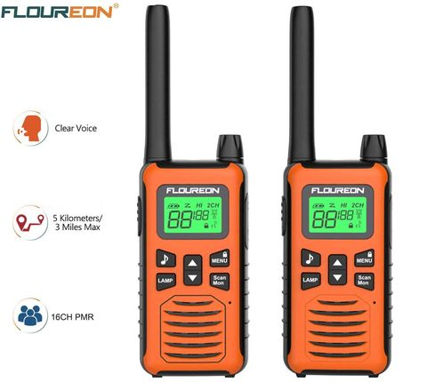 Long Distance Walkie Talkies In Orange Finish