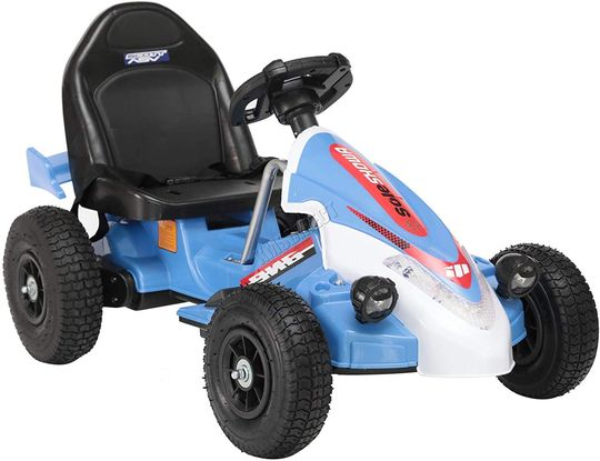 Electric Go Kart In Light Blue Covering