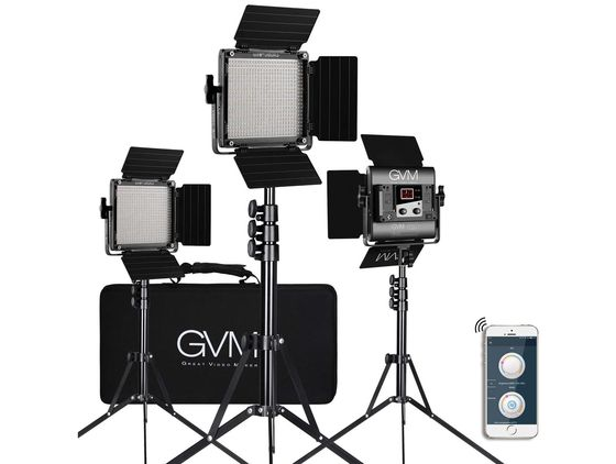 Studio Lighting Kit With Black Exterior