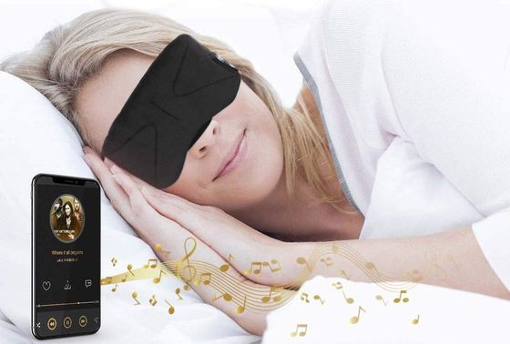 Wireless Sleep Headphones Worn By Blonde Woman