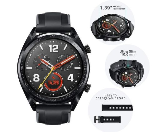GPS Smart Sport Watch With Black Strap