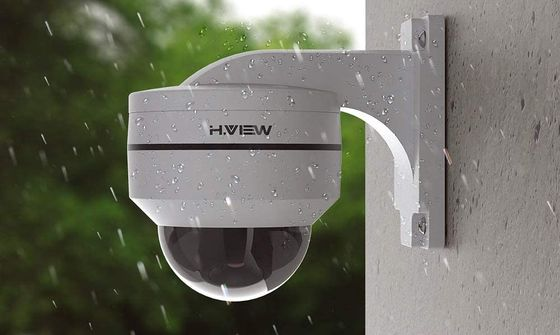 CCTV Dome Camera Fixed With Wall Bracket