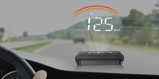 Car HUD Display With Digits On Screen