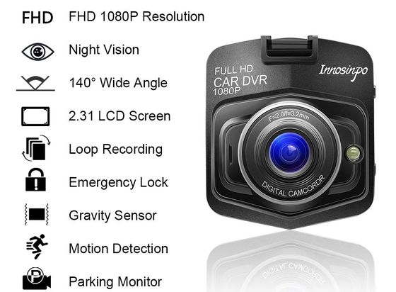 Mini Dash Cam With Night Vision And Black Exterior