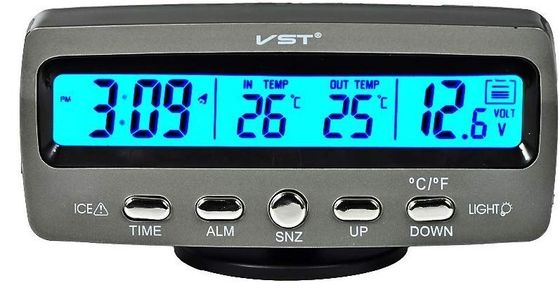 Car Temperature Monitor With Blue Back Light