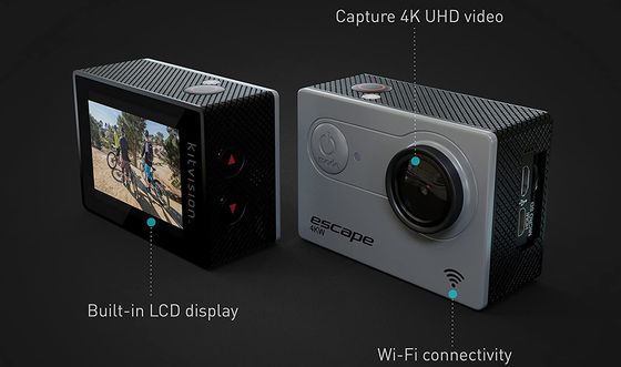 Ultra HD Action Camera With Big LCD