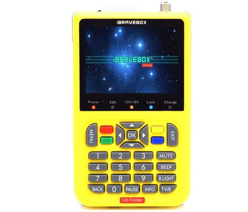 Satellite TV Signal Finder With Yellow Exterior