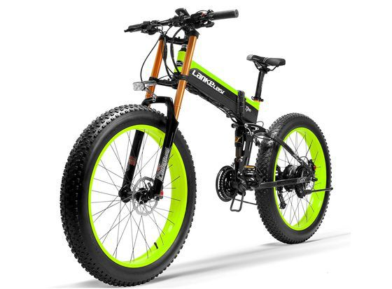 Fat Tyre E-Bike With Yellow Frame