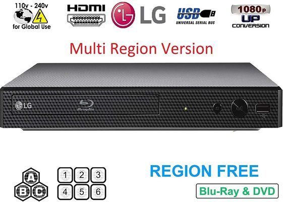Region Free Blu-Ray Player In Black Case