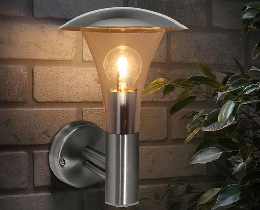 Sensor Light With Steel Finish